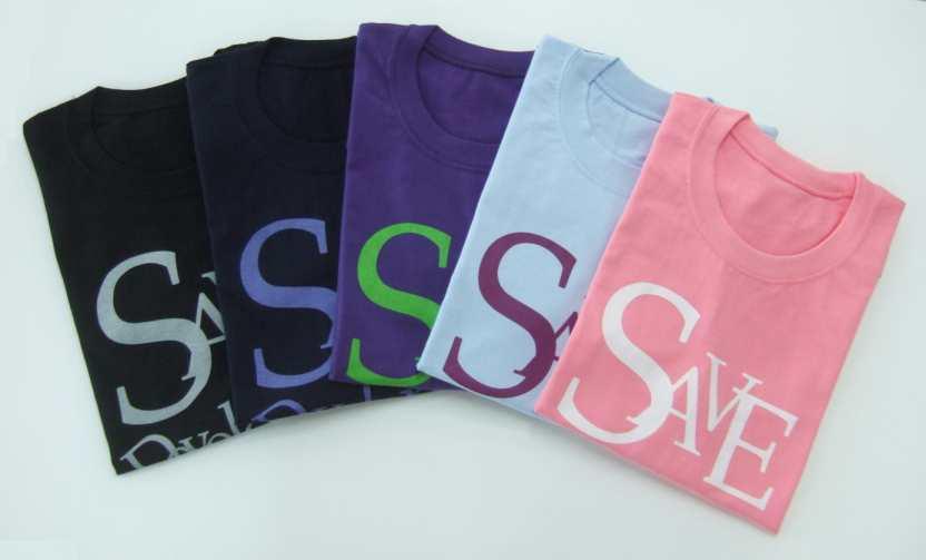 티셔츠 - 블랙, 네이비, 바이올렛, 스카이블루, 핑크